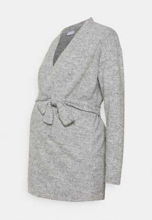 PCMPAM CARDIGAN - Strickjacke - light grey melange
