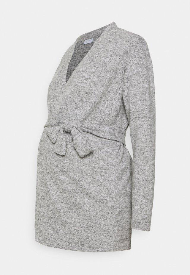 PCMPAM CARDIGAN - Cardigan - light grey melange