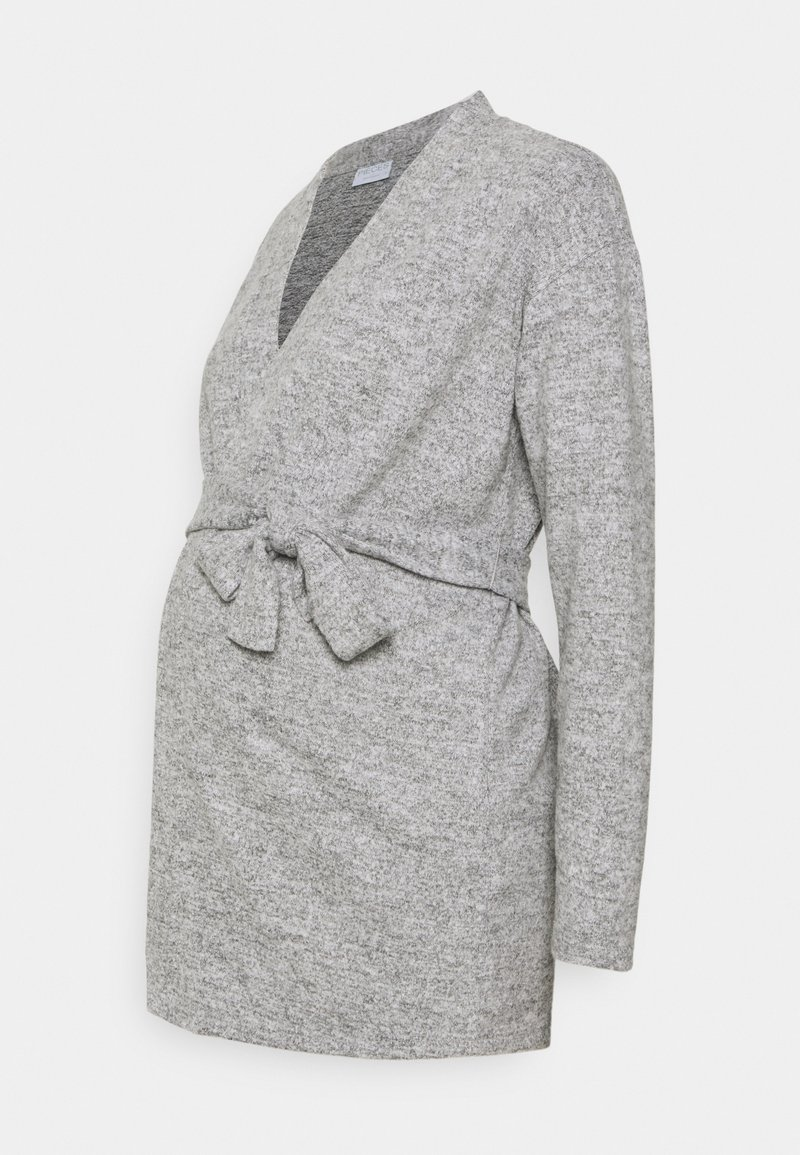 Pieces Maternity - PCMPAM CARDIGAN - Cardigan - light grey melange