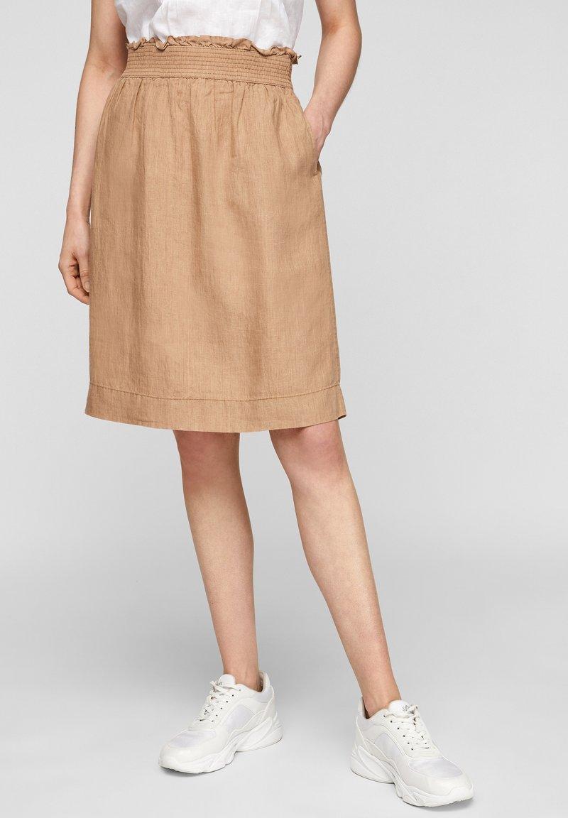 s.Oliver - A-line skirt - desert sand melange
