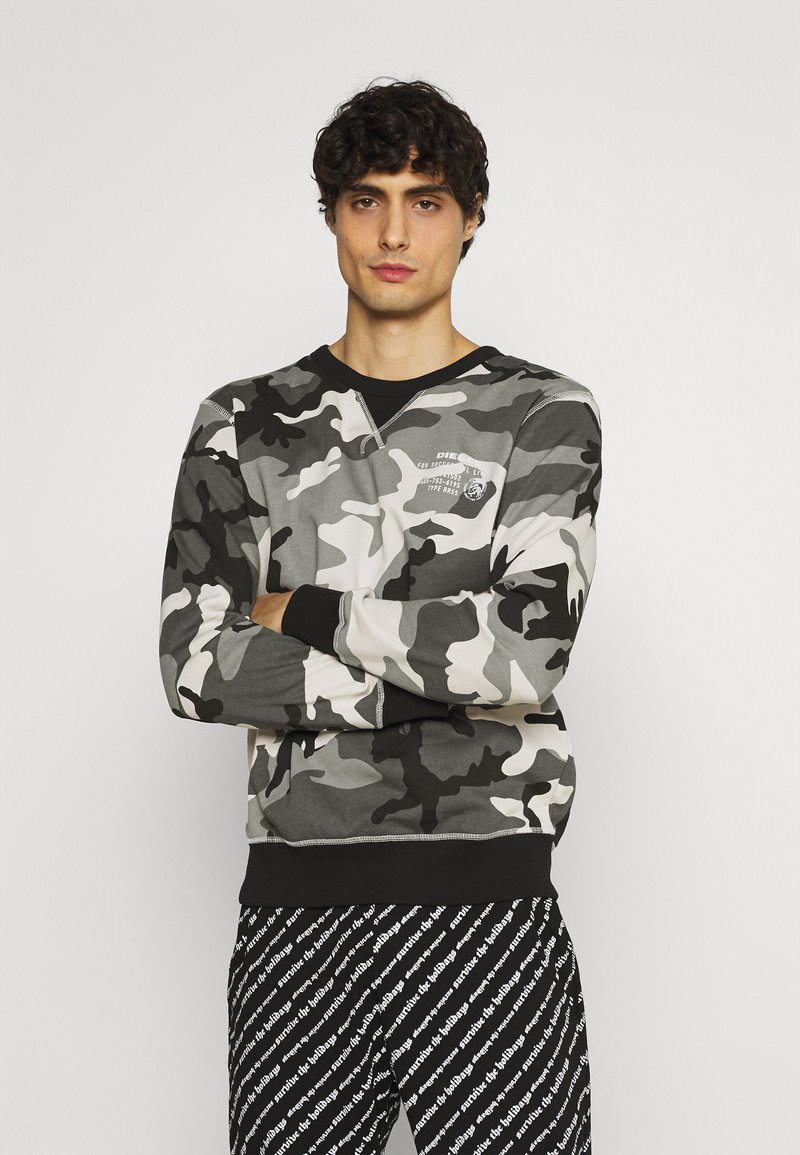 Diesel - UMLT-WILLY SWEAT-SHIRT - Pyjama top - camouflage grey