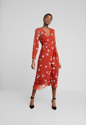 WRAP MIDAXI - Day dress - delphine floral rust