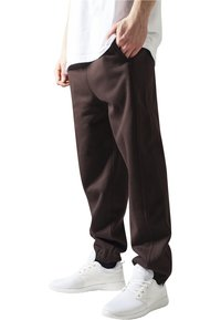Urban Classics - SWEATPANTS SP. - Tracksuit bottoms - brown - 0