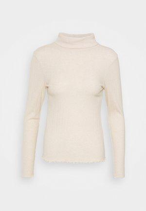 BRUSHED LETTUCE EDGE - Langærmede T-shirts - blush