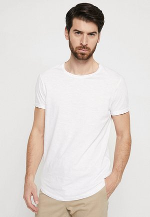 LONG TEE - T-shirts - white