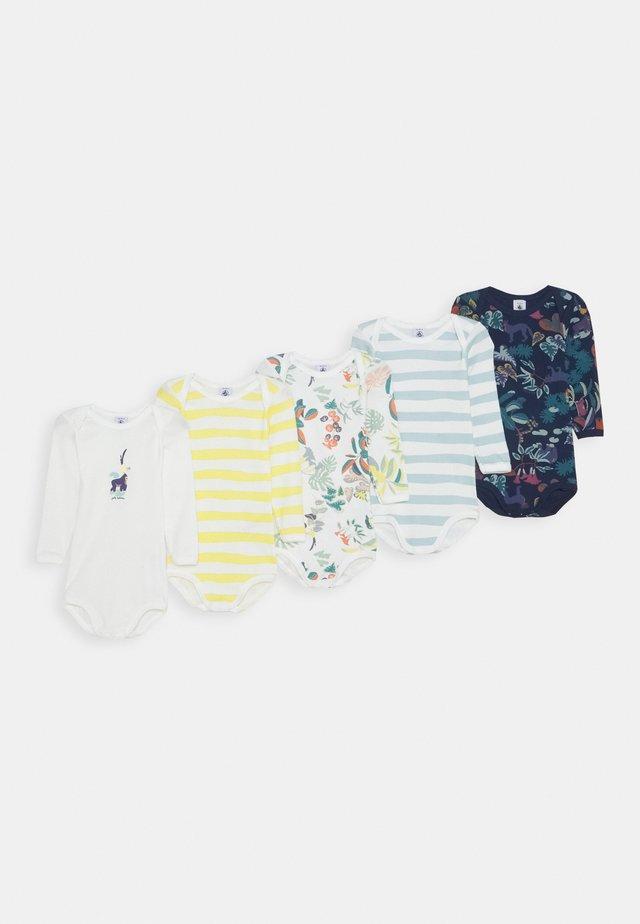 BABY BODIES UNISEX 5 PACK - Body - blue/yellow/white