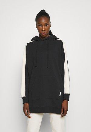 OVERSIZED STRIPE HOOD - Sweater - black beauty