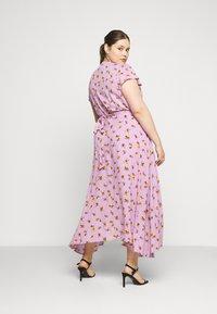 Lost Ink Plus - FLORAL WRAP DRESS - Day dress - purple - 2