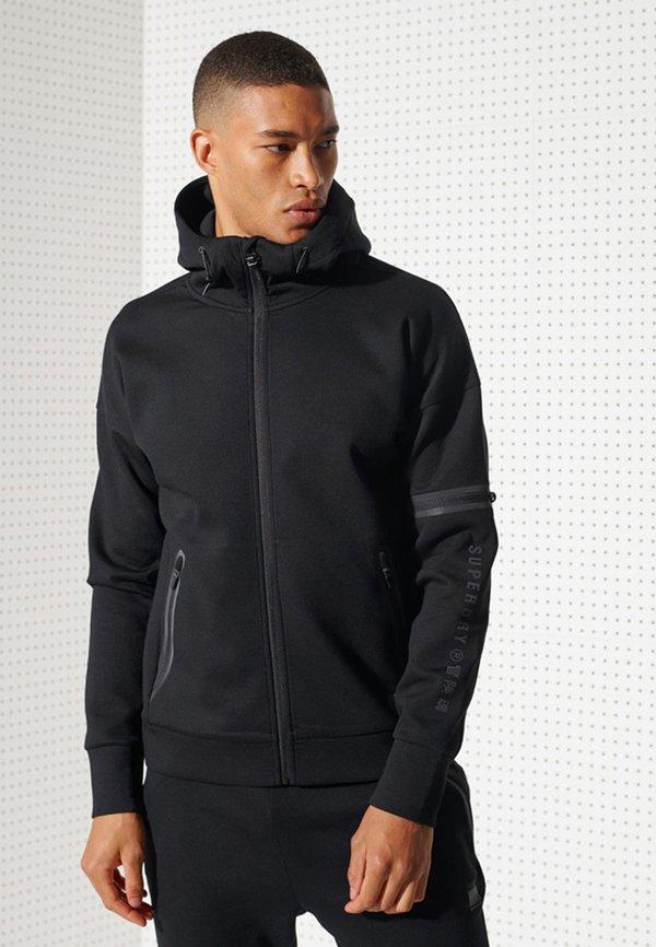 Superdry Bluza rozpinana - black/czarny Odzież Męska IUWX