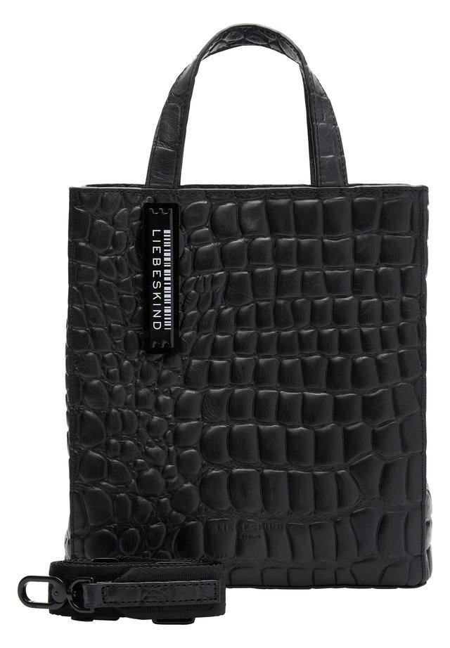 MIT KROKOPRÄGUNG - Håndtasker - black