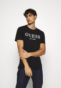 Guess - Camiseta estampada - jet black - 0