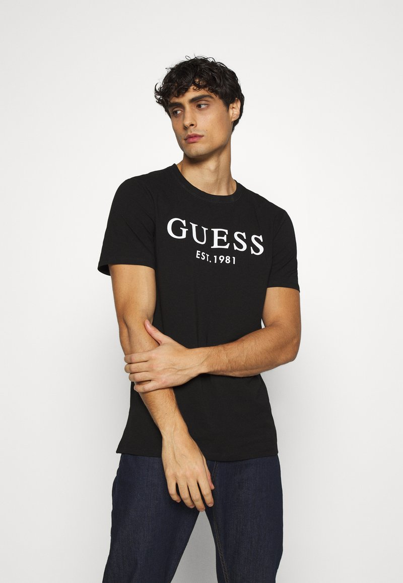 Guess - Camiseta estampada - jet black