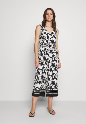 OVERALL 3/4 - Jumpsuit - black/white