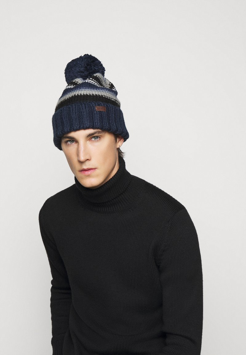 Barbour - HARROW STRIPE BEANIE - Beanie - grey/blue