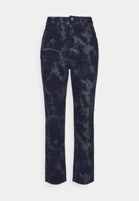 Missguided Petite - TIE DYE WRATH - Tracksuit bottoms - navy - 0