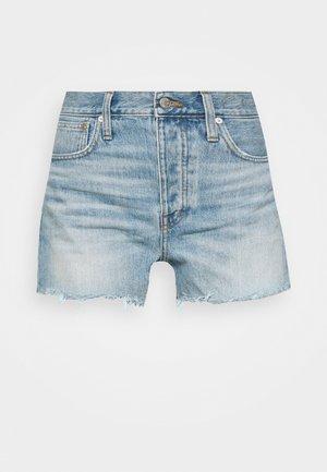 DENIM SHORT HEM DETAIL - Denim shorts - rosemount