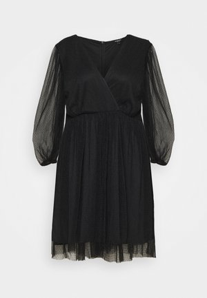 LONG SLEEVE SKATER - Cocktail dress / Party dress - black