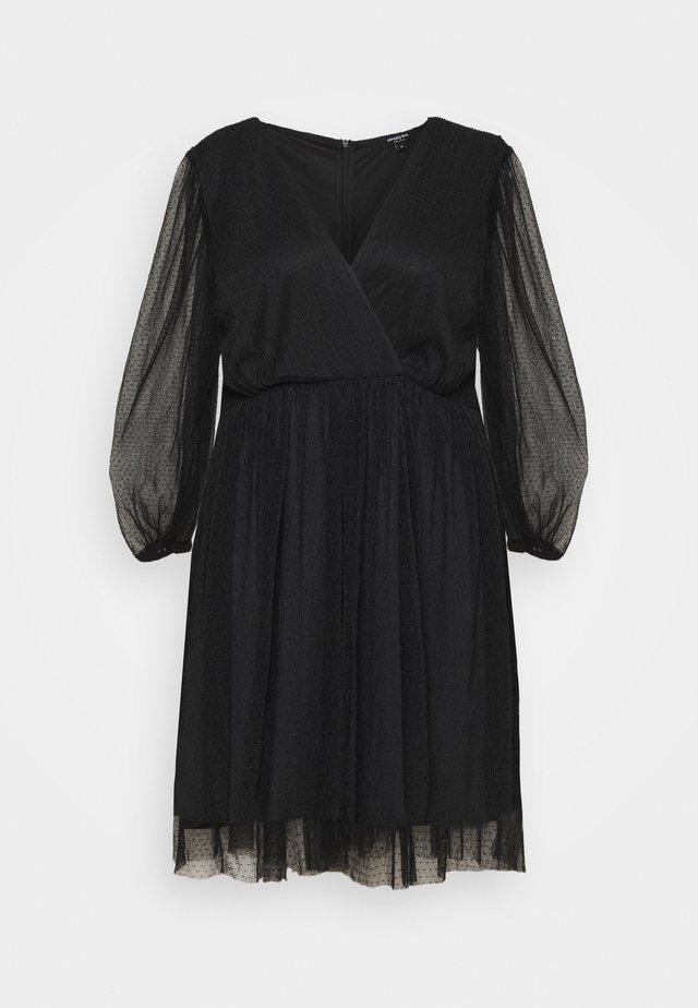 LONG SLEEVE SKATER - Vestito elegante - black