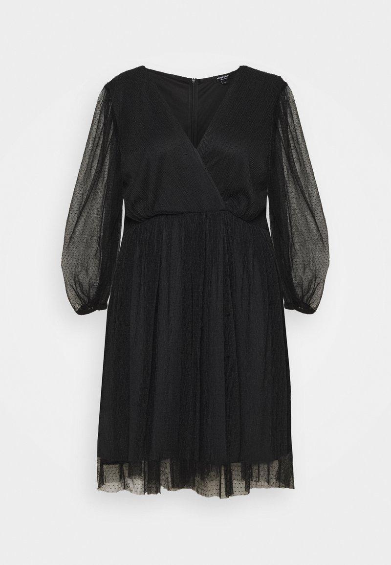Simply Be - LONG SLEEVE SKATER - Koktejlové šaty/ šaty na párty - black