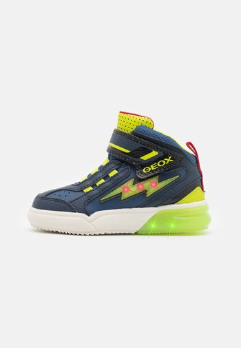 GRAYJAY BOY - Sneaker high - navy/lime