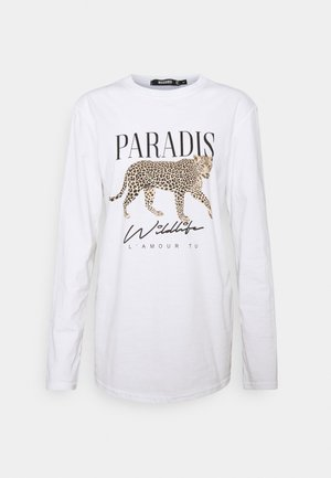 PARADISE LEOPARD GRAPHIC LONG - Longsleeve - white
