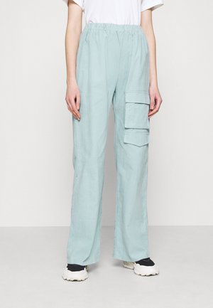WIDE LEG UTILITY TROUSERS - Bukse - dusky blue