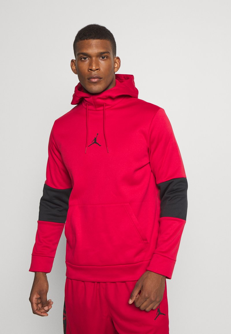 Jordan - AIR THERMA - Hoodie - gym red/black