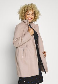 Evans - FAUX FUNNEL NECK COAT - Classic coat - neutral - 0