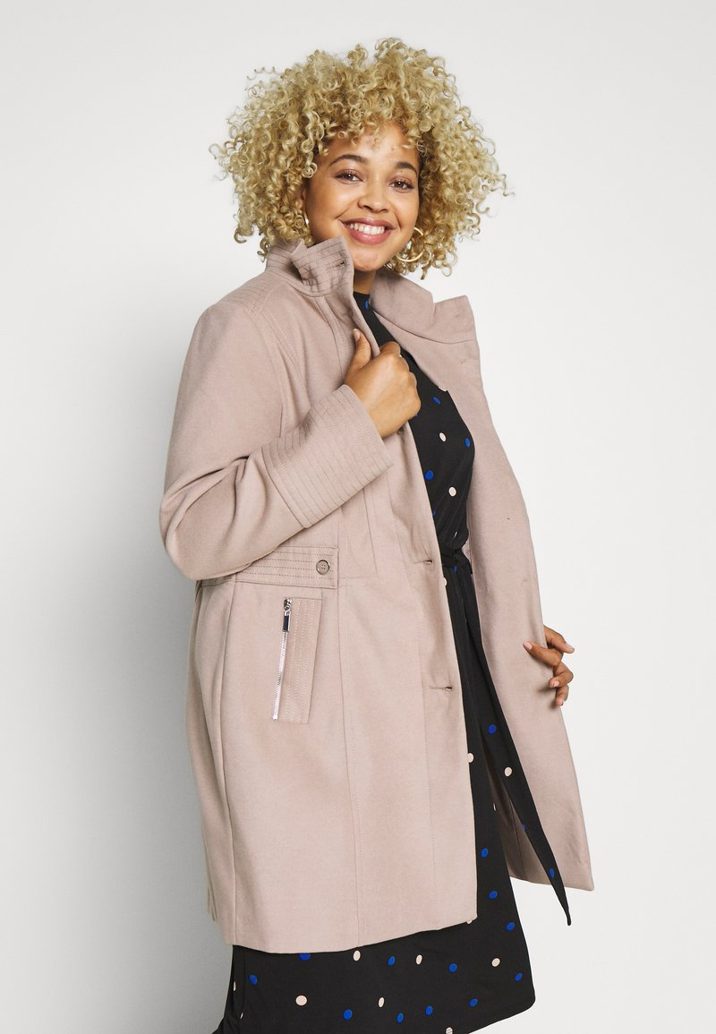 Evans - FAUX FUNNEL NECK COAT - Classic coat - neutral