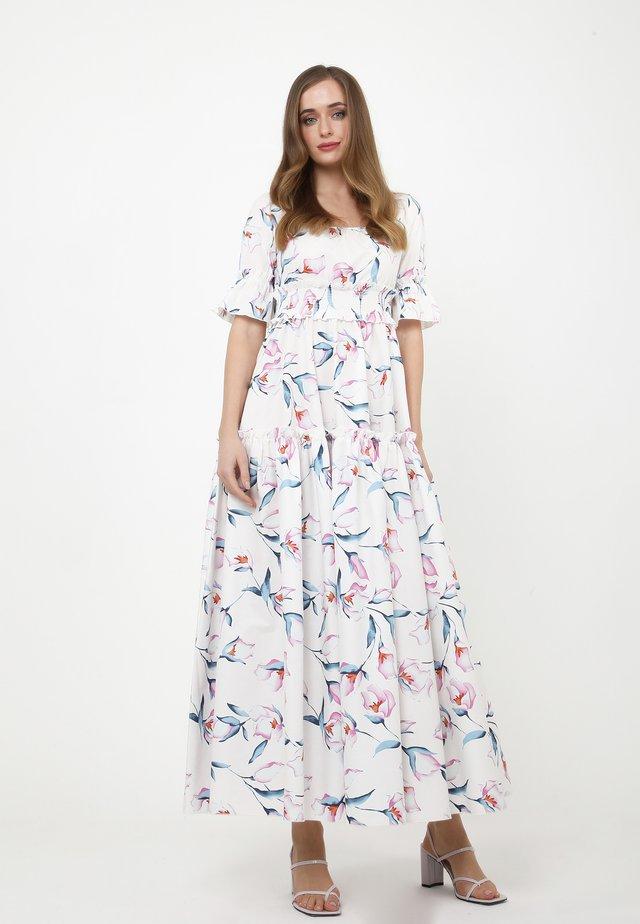 SALAMEA - Robe longue - weiß, rosa