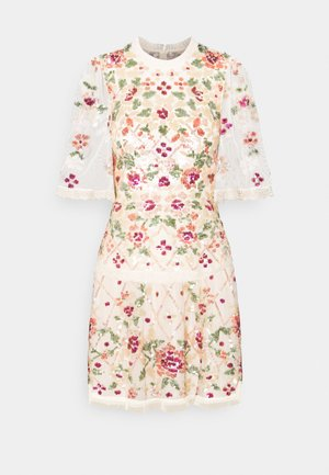 TRELLIS ROSE MINI DRESS - Cocktailkjoler / festkjoler - champagne