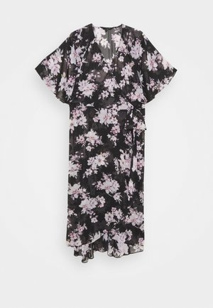 EMMA FLUTTER WRAP DRESS - Denní šaty - midnight bloom