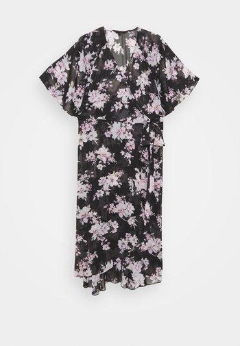 EMMA FLUTTER WRAP DRESS - Day dress - midnight bloom
