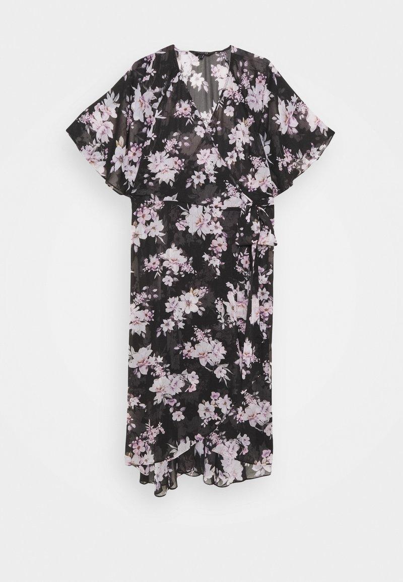 Forever New Curve - EMMA FLUTTER WRAP DRESS - Day dress - midnight bloom