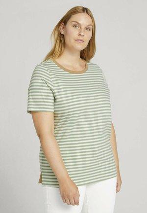 T-shirt print - mint green white stripe