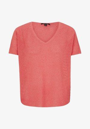 MIT TRANSPARENZ-EFFEKT - Basic T-shirt - coral