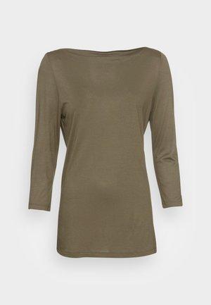 Pitkähihainen paita - dark khaki