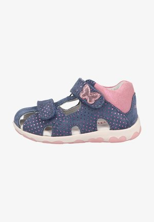 Touch-strap shoes - blau/rosa