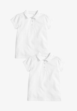 2 PACK SHORT SLEEVE POLOSHIRTS - Polotričko - white
