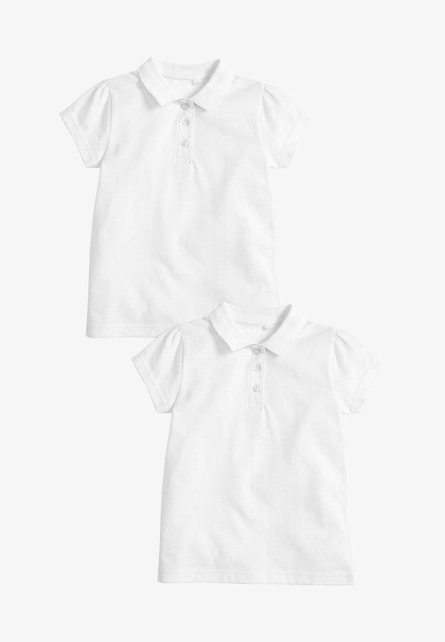 2 PACK SHORT SLEEVE POLOSHIRTS - Pikeepaita - white
