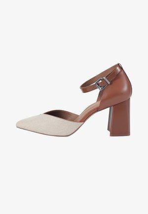 High heels - brown/beige