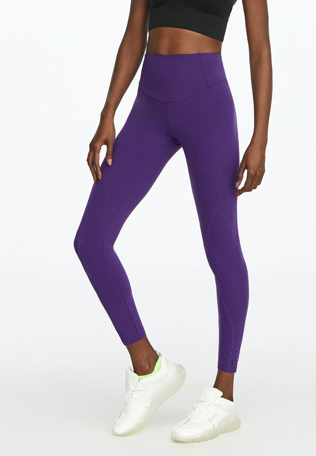 KOMPRESSIONSLEGGINGS MIT LASER-CUT-OUT 31220225 - Leggings - dark purple