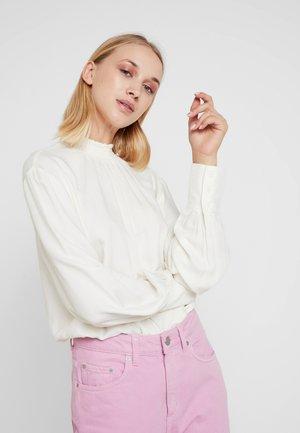 SMOCK NECK - Blusa - off white