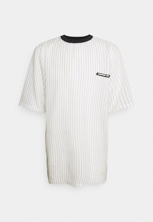 STRIPED TEE - T-shirt print - white