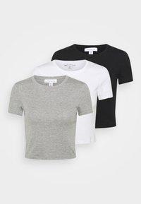 Topshop - EVERYDAY TEE 3 PACK - Print T-shirt - black/white/grey - 0