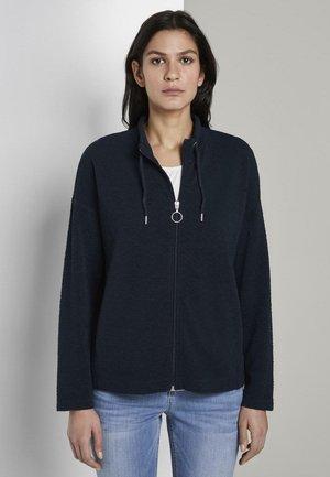 MIT STEHKRAGEN - Zip-up hoodie - sky captain blue