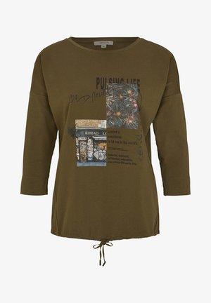 Long sleeved top - khaki phototprint collage