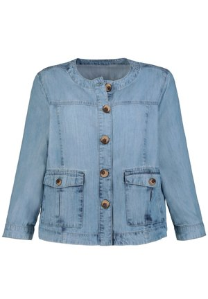 GINA LAURA DAMEN , JEANSLOOK, 60S-STYLE, 3/4-ARM, LYOCELL 7 - Denim jacket - blue bleached