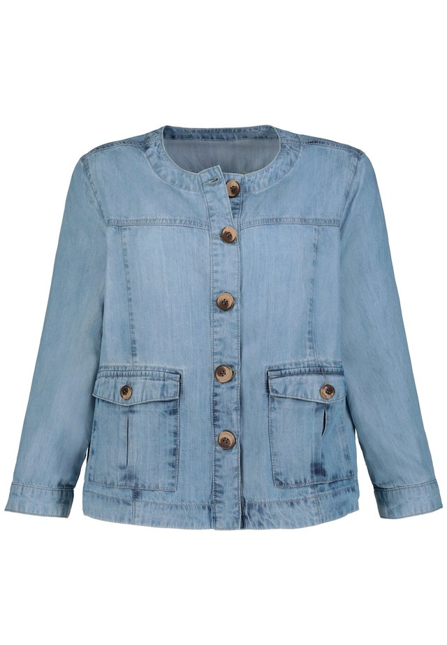 GINA LAURA DAMEN , JEANSLOOK, 60S-STYLE, 3/4-ARM, LYOCELL 7 - Spijkerjas - blue bleached