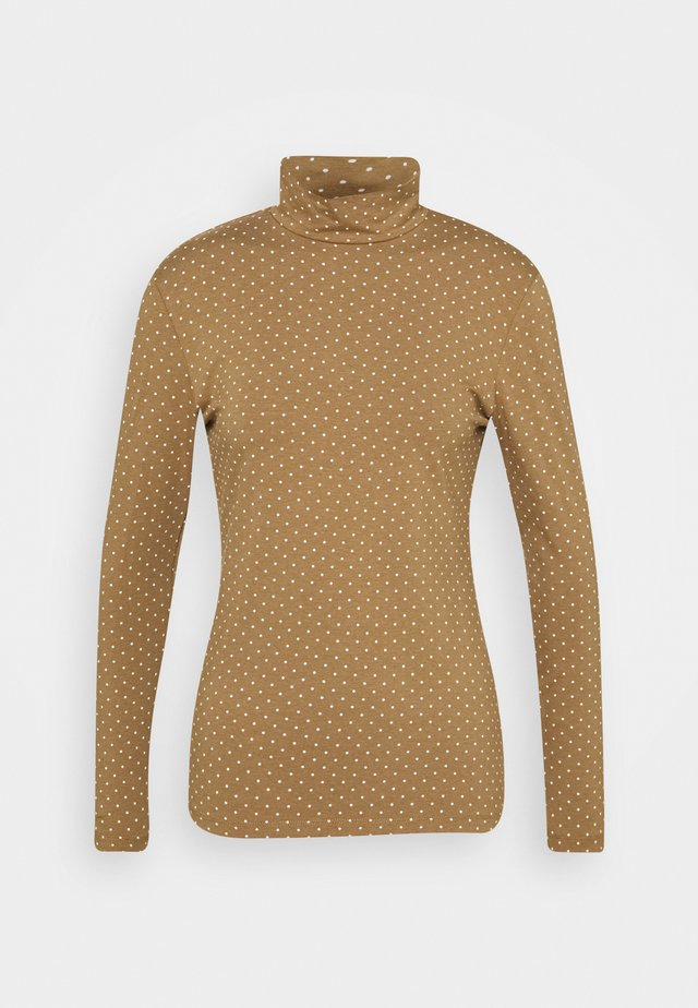 DOTTED - T-shirt à manches longues - brown